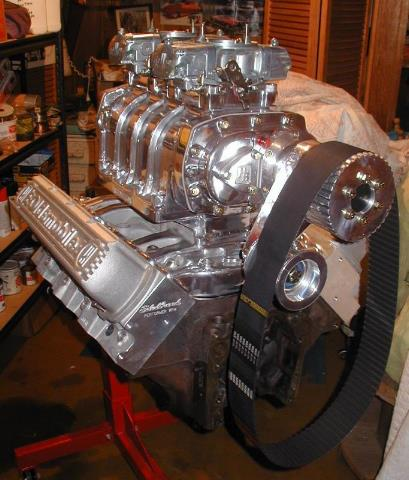 Blown Oldsmobile Engineon Chevy 350 Blower Supercharger